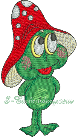 Froggy machine embroidery design #2