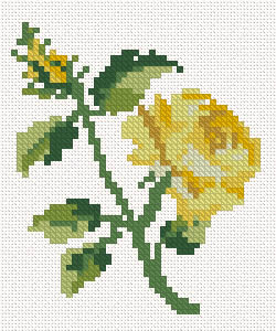 Cross stitch rose machine embroidery design