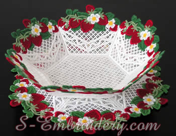 Freestanding lace bowl