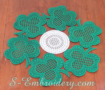 Shamrock Freestanding lace doily