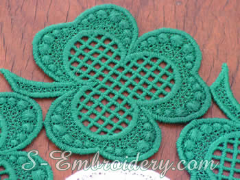 Shamrock Doily detail