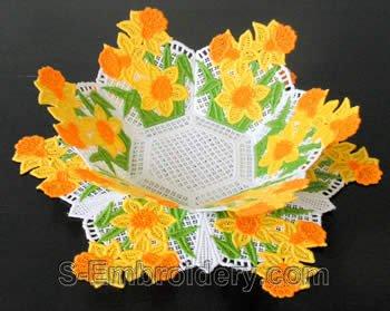Daffodil freestanding lace bowl #1