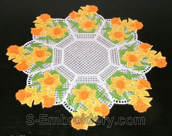 Easter Freestanding lace doily #2