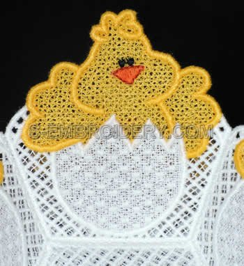 Chick freestanding lace bowl close-up