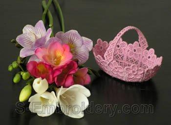 Freestanding lace basket #5