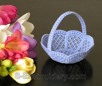 Freestanding lace wedding basket #7