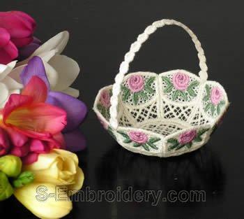 Freestanding lace wedding basket #11