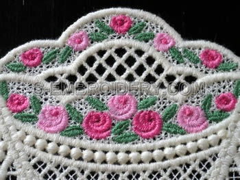 Mini rose freestanding lace close-up