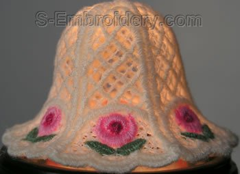 3D freestanding lace bell - closeup