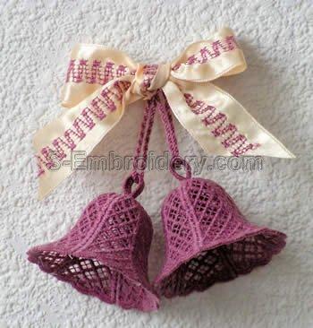 3D freestanding lace bell - pair