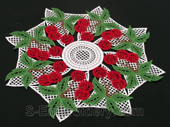 Cherry freestanding lace doily #1
