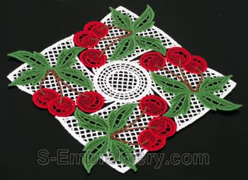 Cherry freestanding lace doily #3