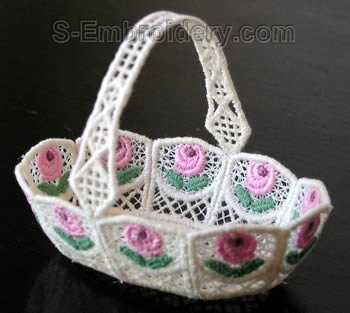 Freestanding lace wedding basket #22