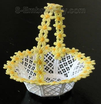10274 Freestanding lace wedding basket #25