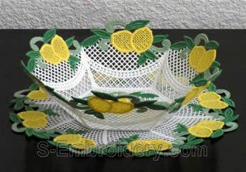 Lemon freestanding lace bowl #2