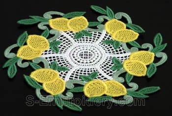 Lemon freestanding lace doily #2