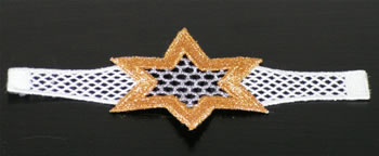 Star Freestanding Lace Napkin Ring