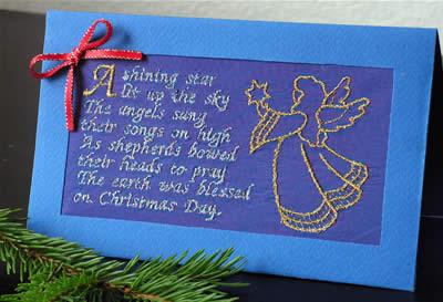 Christmas Greeting Card Embroidery Decoration