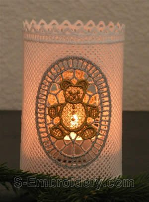 Christmas freestanding lace Bear shade