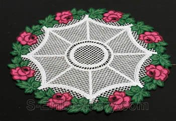 Rose freestanding lace doily #1