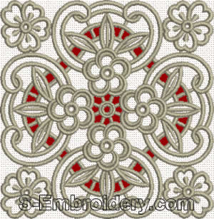 Floral cutwork lace - mono-color version