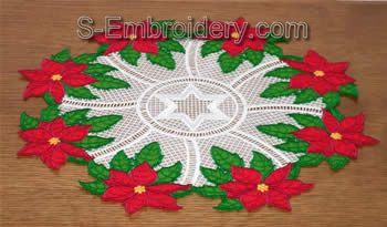 Freestanding Lace Poinsettia Doily Image