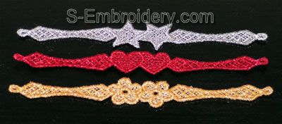 Freestanding lace napkin rings