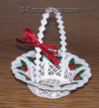 Freestanding lace mini basket #2
