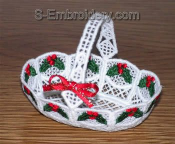 Freestanding lace mini basket #3