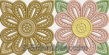 free standing lace table runner design - color variants