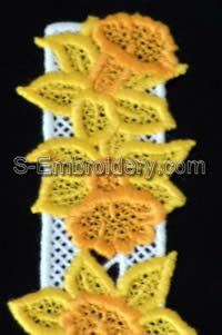 Daffodil Freestanding Lace Bookmark