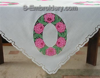 Freestanding Lace Table Top corner