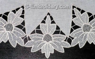 Freestanding Lace Doily - close-up