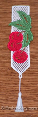 Freestanding Lace Cherry Bookmark