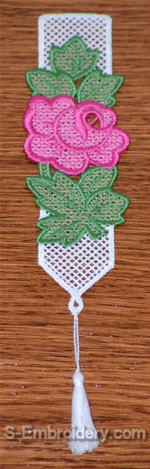 Freestanding Lace Rose Bookmark