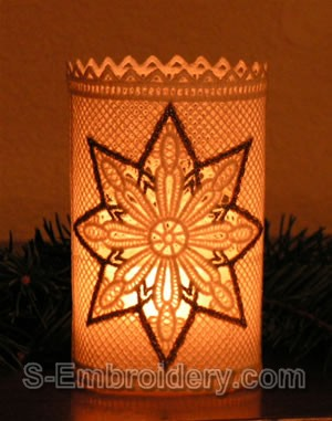 Freestanding Lace Christmas Light Shade #1