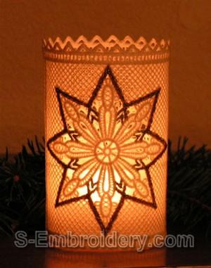 Freestanding Lace Christmas Light Shade #1