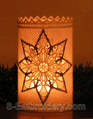 Freestanding Lace Christmas Light Shade #2