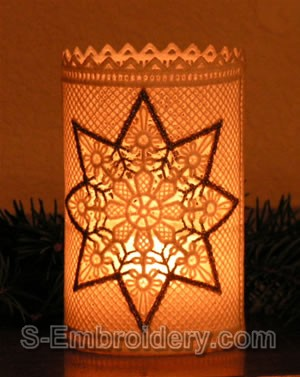 Freestanding Lace Christmas Light Shade #3