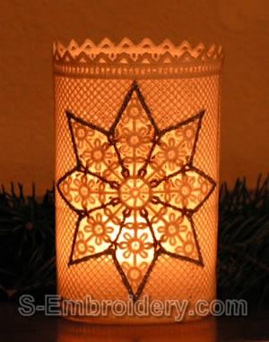 Freestanding Lace Christmas Light Shade #4