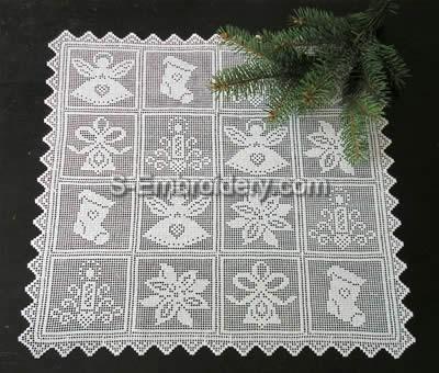 Freestanding lace Christmas crochet doily