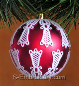Freestanding lace Christmas Ornament Cover