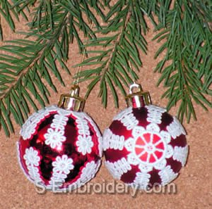 Freestanding lace Christmas Ornament covers