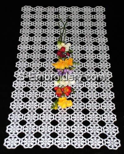 Freestanding Lace Crochet Table runner