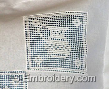 Freestanding Lace Kitchen Crochet Square 2