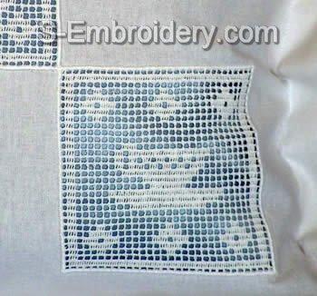 Freestanding Lace Kitchen Crochet Square 5