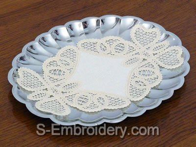 Butterfly Freestanding Battenberg Lace Doily
