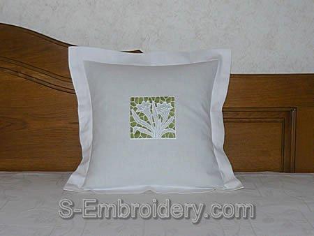 FSL crocus pillow case decoration