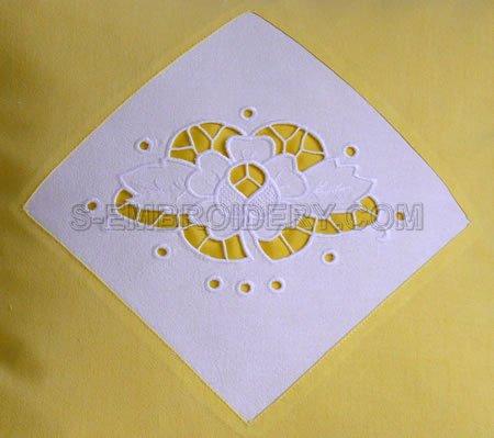 Rose cutwork lace machine embroidery design