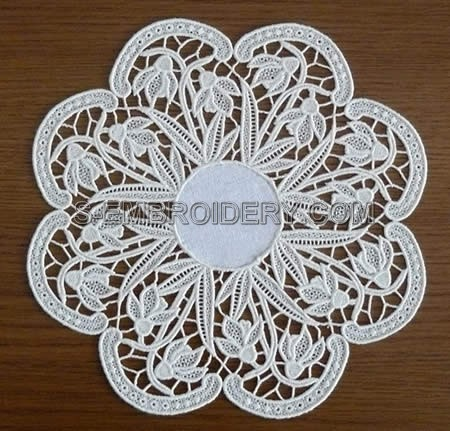 Snowdrops freestanding lace doily